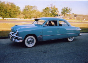 (24) 51 Ford Custom 2d Sedan Light Blue